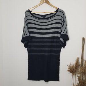 White House Black Market | Striped Knit Top Med